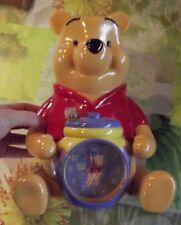 Ancienne Tirelire & Pendule Disney Winnie Résine plastique TBE. 30cm