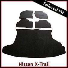 NISSAN X-TRAIL mk1 2001-2007 completamente su misura tappeto montato auto e le stuoie di avvio Nero