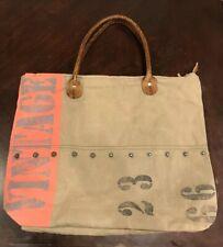 Chloe & Lex Cotton Recycled Canvas Purse Tote Bag Vintage Print