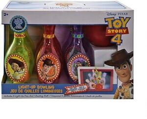 Disney Toy Story 4 Light Up Bowling Set Kids Toy Games Gift 6 Pins and 1 Ball