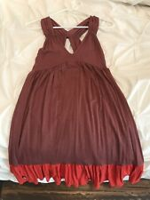 Ella Moss Dress XS NWOT Mauve & Coral Color Block (retail $105)
