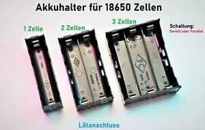 Batteriehalter Gehäuse für 18650 Lithium Zellen 1,2,3,4 Akku Halterung Case PCB