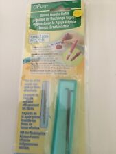 Clover Speed needle refill 2 pieces size 40 in plastic case NEW
