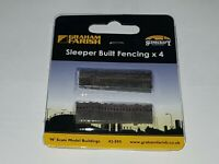 N Gauge Graham Farish 42-595 Scenecraft Sleeper Built Fencing 4pcs (Pre-Built)