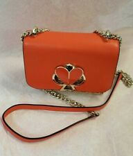 Kate Spade Nicola Wicker Twistlock SM Convertible Chain Shoulder Bag ~ TAMARILLO