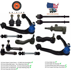 Left Right Front Lower Control Arm Ball Joint Assembly Compatible Escalade Chevy Avalanche Tahoe Silverado Suburban 1500 GMC Yukon XL Sierra 1500 2PCS AUQDD K620955 K620956 W//o Off Road Suspension
