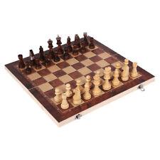3 in1 Schachspiel Schach Schachbrett Holz Klappbar Chess Board Set für Kinder DE