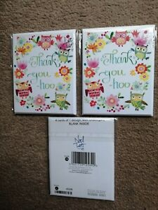 NEW Noel Tatt Thank You Card 4 Packs-Bundle of 3 Packs