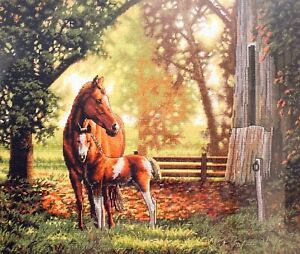 """DIMENSIONS Gold Collection """"Mare and Foal"""" Horse Counted Cross Stitch Kit"""