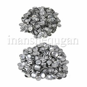 500pcs Silver Metal Fabric Cover Buttons 32L 19 x 4mm Make Hair Clips