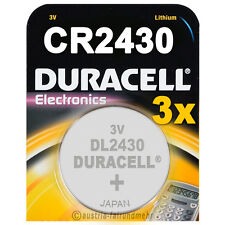 3x CR2430 DURACELL Electronics Lithium Knopfzelle DL2430 3Volt