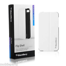 Genuine BlackBerry Z10 White Flip Shell Case Cover with Stand ACC-49284-202
