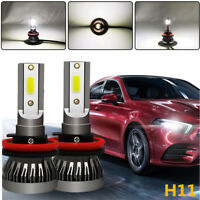 LED Headlight H11 Kit 255000LM H9 H8 Beam Bulb 6000K HID  Fog Light FD 2pcs