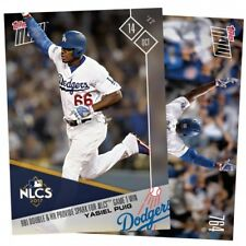 2017 TOPPS NOW YASIEL PUIG MLB 764 RBI DOUBLE & HR SPARK NLCS GAME 1 WIN NLCS
