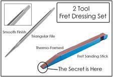 GeetarGizmos FRET DRESSING FILE SET (2) Tool Smooth File / Sanding Stick Guitar