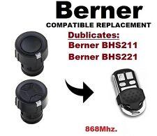 Berner BHS211, BHS221 868Mhz. Garagentor/Tor Fernbedienung Duplikator-Kloner