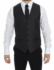 NWT $440 DOLCE & GABBANA Black Silk Wool Dress Vest Blazer Jacket IT48/ US38 /M