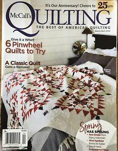 McCalls Quilting Magazine Mar/Apr 2018 Pinwheel Quilts, Classic Quilts