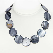 Black Shell and Pearl Necklace, Handmade