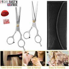 "2pcs 6.0"" Hair Cutting Scissors Set Barber Cutting Shears Hairdressing Kit UK"