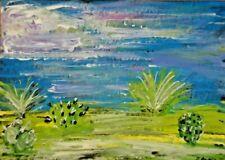 Original ACEO - Cacti - miniature acrylic painting