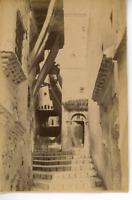 Algérie, Alger (الجزائر ), Une rue  Vintage albumen print.  Tirage albuminé