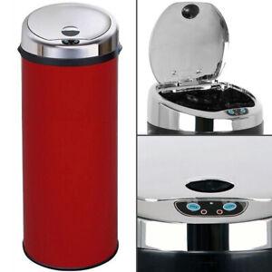 Inmotion Red Stainless Steel Auto Sensor Kitchen Waste Dust Bin 30L, 42L, 50L