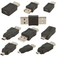 AM_ 10Pcs USB Male to Mini Micro Female OTG Adapter Converter Set for Android Ph