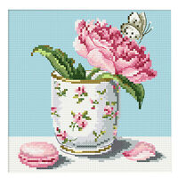 Flowers Stamped Cross Stitch Embroidery kit 14ct 11ct Aida Cloth Sewing Craft