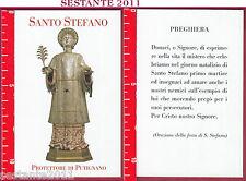 3472 SANTINO HOLY CARD S. SANTO STEFANO PROTETTORE DI PUTIGNANO BA PREGHIERA
