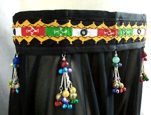 Ethnic Costume CoinBelly Dance Jewelry Belt Teal Tribal Fusion Kuchi Gypsy Boho