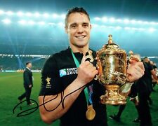 Dan CARTER Signed Autograph 10x8 Photo C AFTAL COA RUGBY All Blacks New Zealand