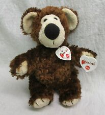 "Bussi by Trudi Teddy Bear 9"" Italian Italy super soft dark brown Mwt"
