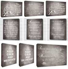 Various Buddha Inspirational Wall Quotes Picture Buddha Grey Wall Canvas Prints