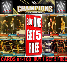 Topps WWE CHAMPIONS Trading Cards 2019 ☆ BUY 1 GET 5 FREE!  ☆  #1-100 BASE CARDS