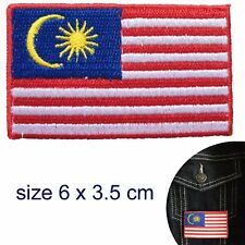Malaysia flag iron on patch Malaysian Malayan Stripes of Glory transfer patches