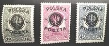 """POLAND STAMPS MLH Fi17-19 Sc27-29 Mi17-19  - """"Lublin edition"""", 1918, *"""