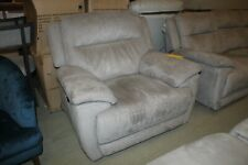 TOUCH, ELECTRIC RECLINING ARMCHAIR IN GREY SADDLE FABRIC F.V.