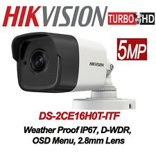 Hikvision 5MP Mini-Bullet Camera DS-2CE16H0T-ITF  4-in-1 2.8mm lens IR Outdoor