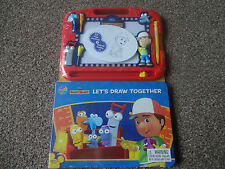 DISNEY JUNIORS HANDY MANNY MAGNETIC DRAWING BOARD AND 22 PAGE STORYBOOK B NEW