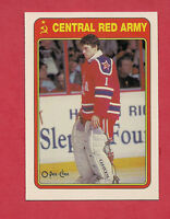 1990-91 OPC # 7R CENTRAL RED ARMY ARTUR IRBE  ROOKIE CARD