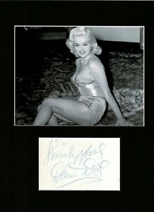 DIANA DORS THE BRITISH BLOND BOMBSHELL STUNNING SIGNED AUTOGRAPH DISPLAY UACC