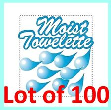 "100 Moist Towelettes 6"" x 4"" Scented Disposable Individual Wet Wipes/Napkin"