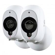 Swann Smart Wireless CCTV Camera 1080p HD Audio PIR Heat Motion Sensor 2 Pack