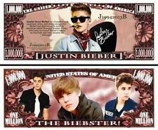 Justin Bieber Million Dollar Bill Collectible Fake Play Funny Money Novelty Note