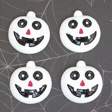 "US SELLER- 10pc x 1"" Resin Halloween Skull Pumpkin Flatback Embellishment SB317C"
