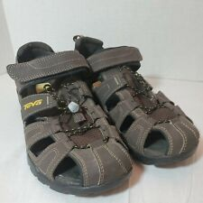 Teva Mens Sz 10 Forebay Fisherman Sport Hiking Sandals Brown ShocPad 1001116