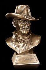 John Wayne Small de Collection Bronze Buste 18cm Sculpture - Emballé Nemesis Now