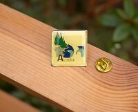 Acadia Main S National Park Gold Silver Tone Metal & Enamel Lapel Pin Pinback