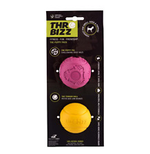 THROWBIZZ Small Dog 2 balls Perfect starter pack for new puppies Treat Safe Toy